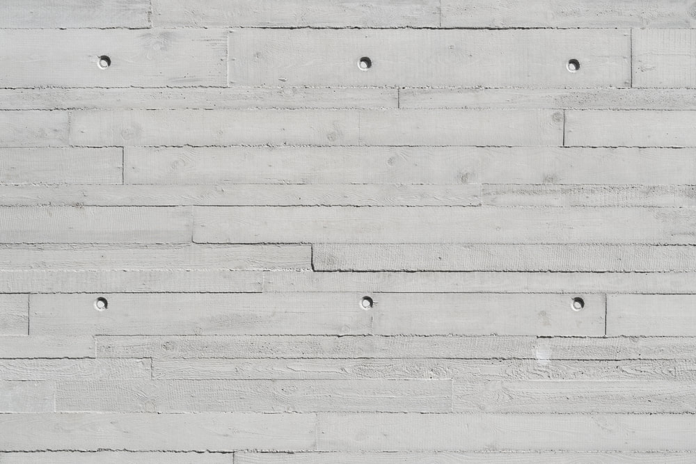 wood plank style decorate concrete wall